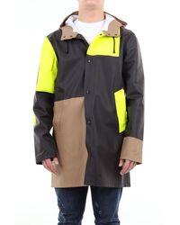 Stutterheim Multicolour Waterproof Coat With Hood - Brown