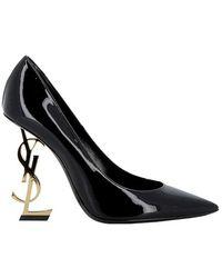 Saint Laurent Saint Laurent Women's 4720110npkk1000 Black Leather Court Shoes