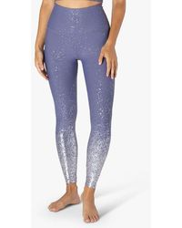 Beyond Yoga Alloy Ombre High Waisted Midi legging - Dusty Violet Silver Speckle - Purple