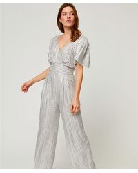 Suncoo Silver Stripe Combi-pantalon Thelma - Metallic