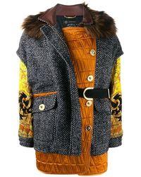 Versace - Women's A84672a231816a8222 Multicolor Wool Outerwear Jacket - Lyst
