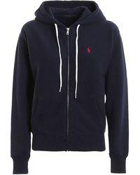 Ralph Lauren Women's 211794396003 Blue Cotton Sweatshirt