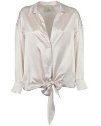 L'Autre Chose L'autre Chose Women's B2520660u004 White Silk Shirt
