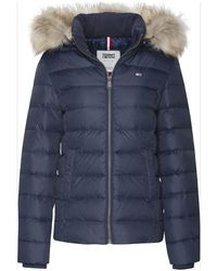 Tommy Hilfiger Essential Hooded Down Jacket , Colour:002 Blkir - Black