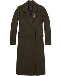 Maison Scotch - Double Breasted Coat - Lyst