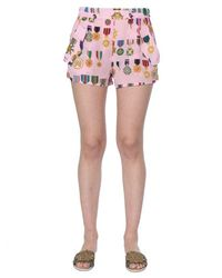 Mr & Mrs Italy Mr&mrs Italy Silk Shorts - Pink