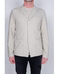 Transit Stretch Cotton Blazer Stone - Grey