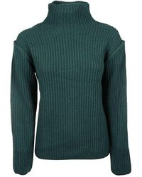 Tory Burch Women's 57422318 Green Wool Sweater