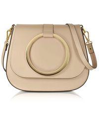 Le Parmentier Women's 037nude Beige Leather Shoulder Bag - Brown