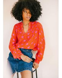 Pyrus Lola Blouse In Jessie Print - Red
