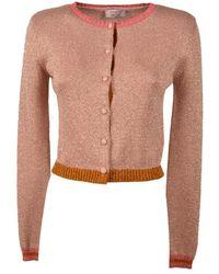 Twenty Easy By Kaos Women's Hp3fp031beige Pink Wool Cardigan