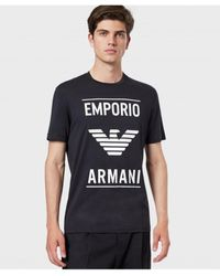 Armani Armani Crew Neck Logo T-shirt - Blue