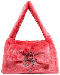 Blumarine Faux Fur Shoulder Bag - Pink