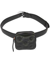 Maison Margiela Leather Belt Bag - Black
