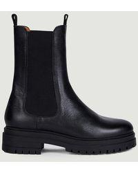 Anthology Boots 7498 Platform Vegetal Noir - Black