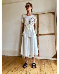 Tallulah & Hope Paperbag Skirt White