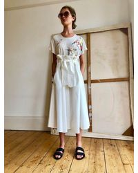 Tallulah & Hope Paperbag Skirt - White