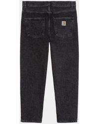 Carhartt Wip Newel Pant Jean - Black (stone Washed) - Blue