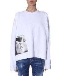 DSquared² Oversized Sweatshirt - White