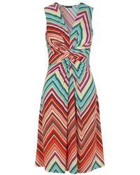 Ilse Jacobsen Nice Dress In Raspberry Zigzag - Multicolour
