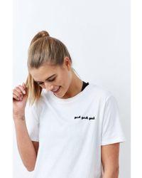 BRUNETTE the Label Girls Girls Girls T-shirt - White