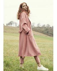 Paisie Maple Wool Blend Coat - White