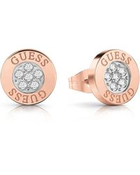 Guess Love Knot Stud Earrings - Pink