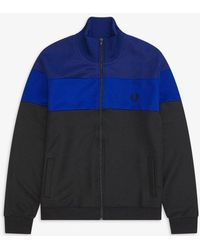 Fred Perry Colour Block Track Jacket Bright Regal - Blue
