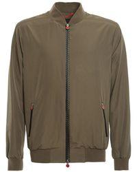 Kiton Men's Ublmseax07t096 Green Polyester Outerwear Jacket