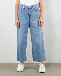 Roy Rogers Rita Cropped Fringed - Blue