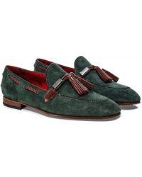 Jeffery West Suede Martini Tassel Loafers Colour: Green