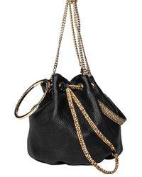 Borbonese Bourbonnais Small Bucket Bag - Black