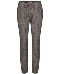Mos Mosh Melange Levon Capri Pants - Grey