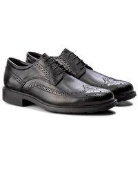Geox Dublin Leather Brogues U34r2b00043c9999 - Black