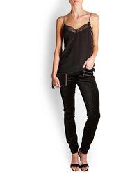 PAIGE - High Rise Velvet Edgemont Jeans - Lyst