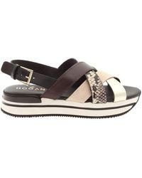 Hogan - Women's Hxw2570dk80pdt0rsq Black Other Materials Sandals - Lyst