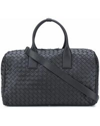 Bottega Veneta Men's 630251vcrl28803 Black Leather Travel Bag