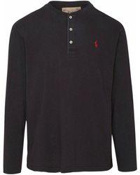 Ralph Lauren Men's 710790058001 Black Cotton T-shirt