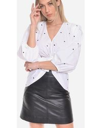 Philosophy Shirt Polka Dot Applications And Bow Front - Multicolour