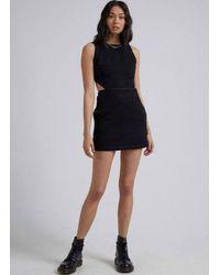 Afends Lilah Organic Denim Dress - Washed - Black