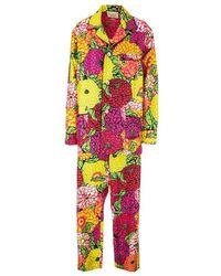 Gucci Color Silk Jumpsuit - Multicolor
