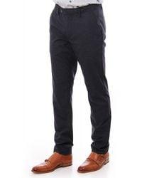 Ted Baker Mens Samirar Slim Fit Semi Plain Trousers - Blue