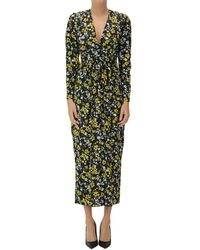 Racil Flower Print Satin Long Dress - Multicolour
