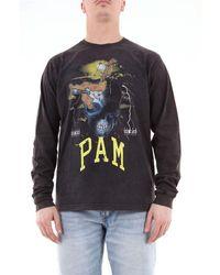 Pam Men's 362tblack Black Cotton T-shirt