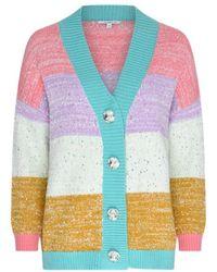 Olivia Rubin Cecily Sequin Stripe Cardigan - Multicolour