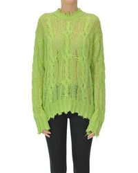 Acne Studios Cable Knit Pullover - Green