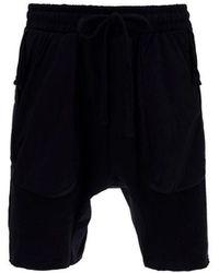 Thom Krom Men's Mst230black Black Other Materials Shorts