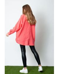 Ottod'Ame Linen Shirt In Coral - Pink