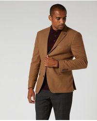 Remus Uomo Slim Fit Wool-blend Jacket Camel   - Brown