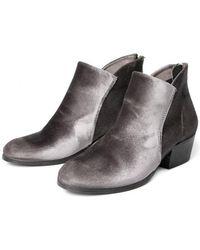 H by Hudson - Hudson Apisi Velvet Grey Boot - Lyst
